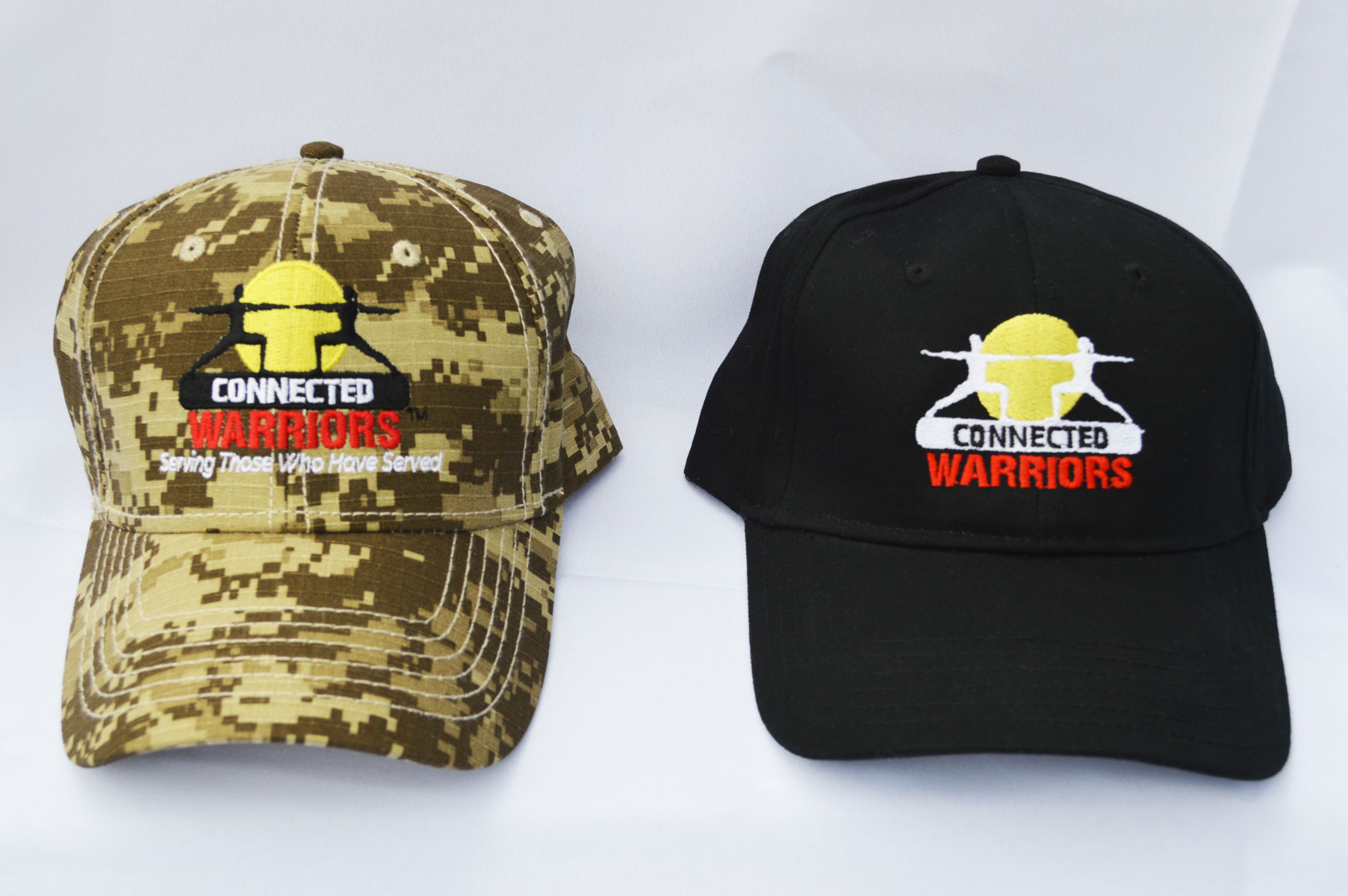 connected-warriors-black-and-camo-hats